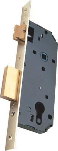 Mortise Door Locks Latch and Deadbolt - Steel, Round Corners
