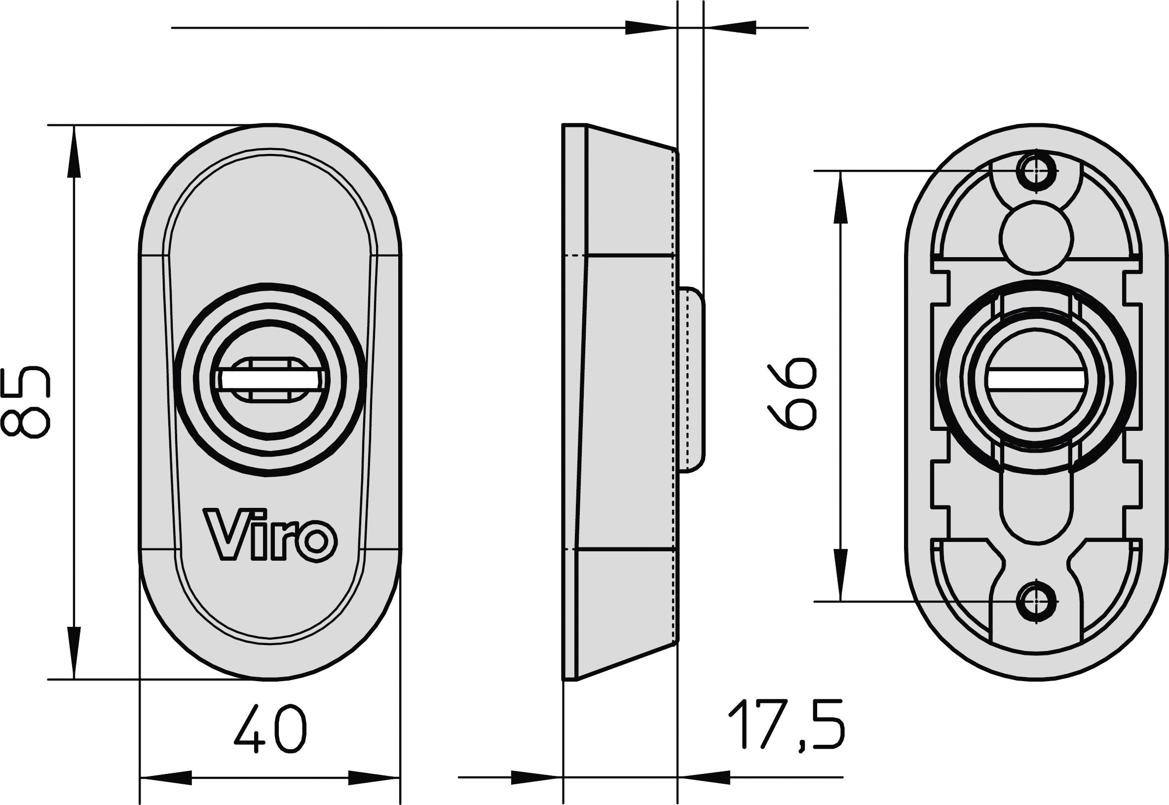 Rosette di sicurezza per spranga universale serrature da for Spranga universale viro