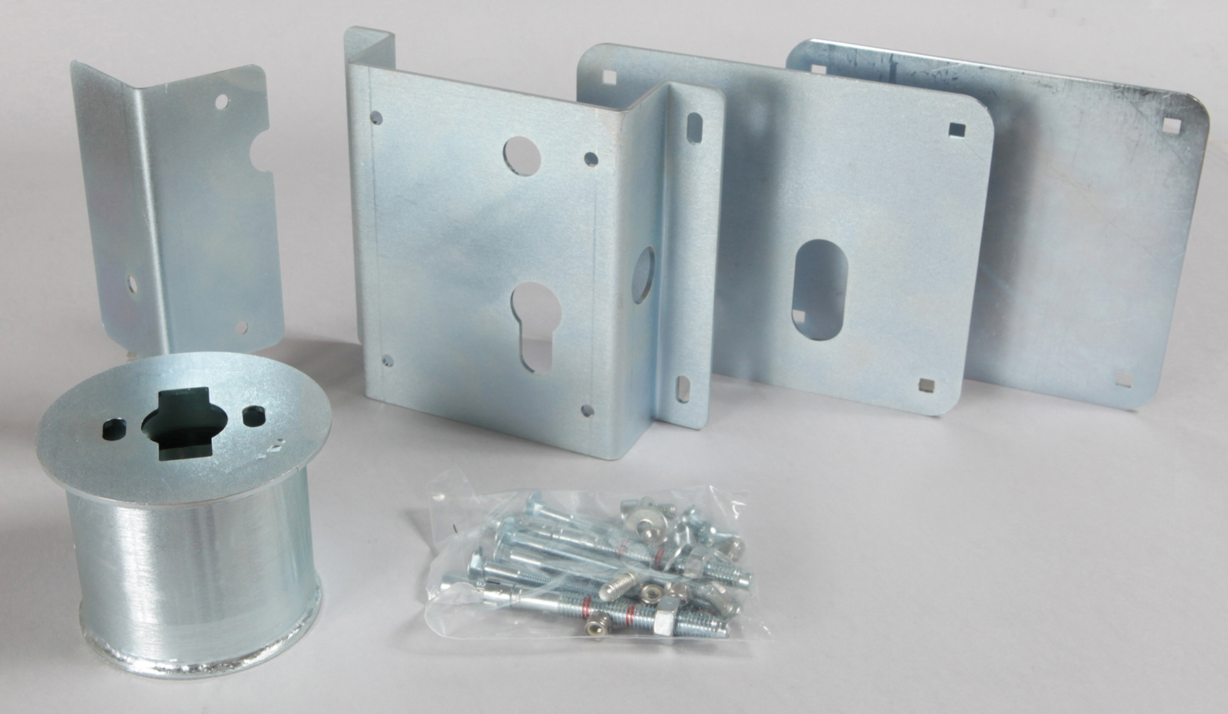 ACCESSORIES FOR V09 ELECTRIC LOCK INSTALLATION ON MOTORIZED SECTIONAL DOORS