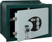 VIRO - PRIVACY - Wall safes - with combination locks and double bit key