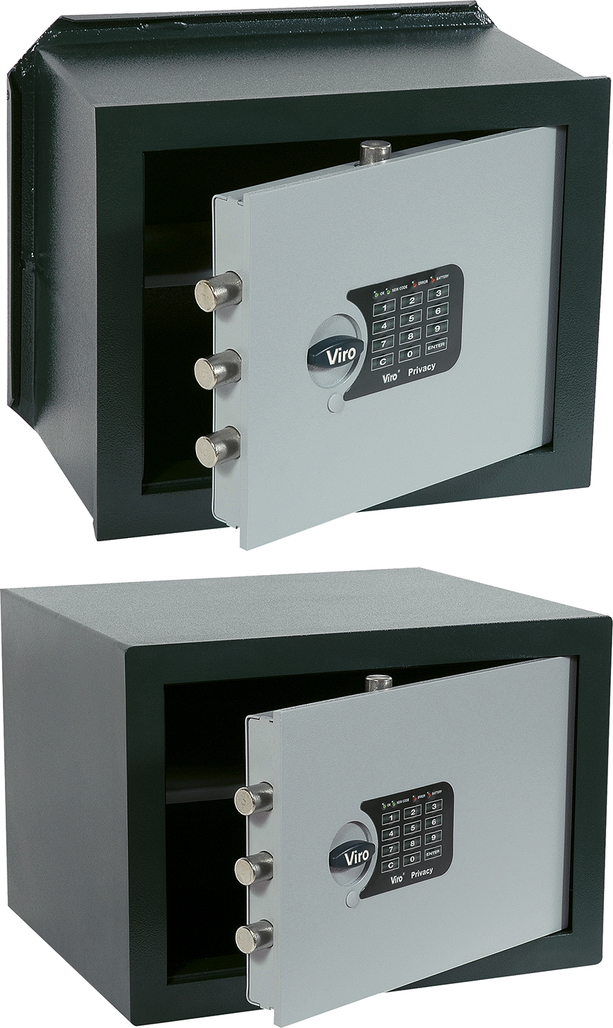 VIRO - PRIVACY electronic safes - Wall safes and free standing safes