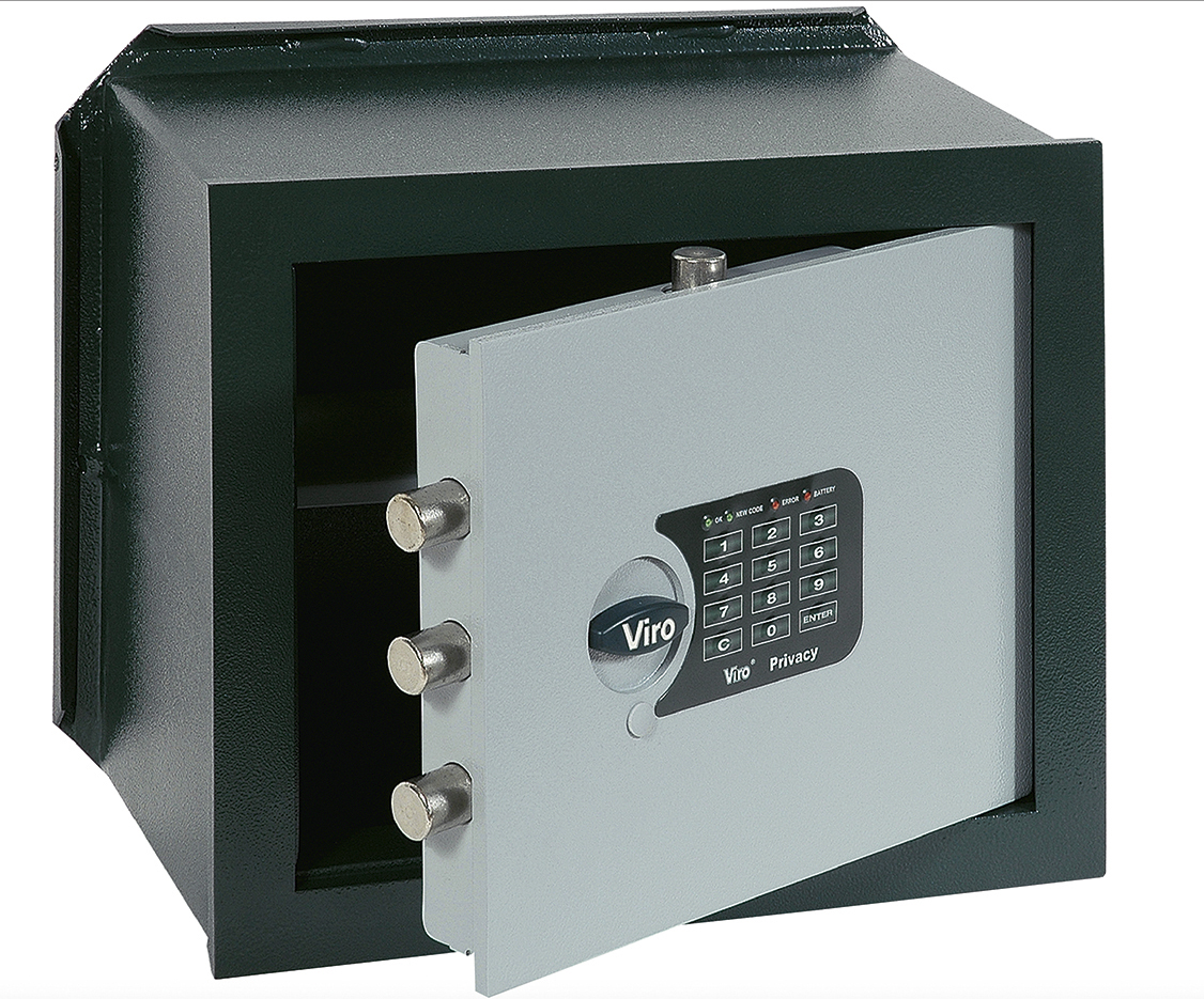 VIRO - Electronic safes with LEDs wall safes for reception items 1.4372.20.2 - 1.4373.20.2 - 1.4374.20.2