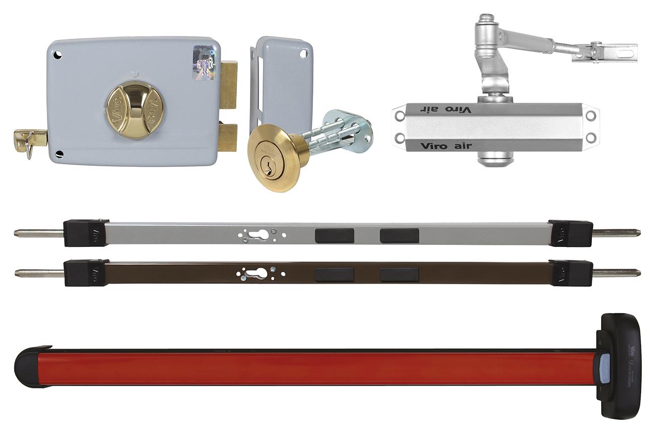 Serrature da applicare chiudiporta e cilindri