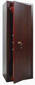 ARMADIO PORTAFUCILI - Meccanico <br>a chiave con serratura doppia mappa effetto legno - 1.4675.20